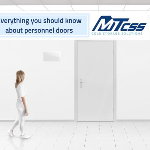 woman walking towards personnel door